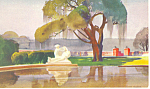 Click here to enlarge image and see more about item p17876: Brookgreen Gardens SC Water Color Postcard p17876