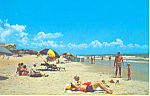 Sun Bathing Myrtle Beach SC  Postcard p17880 1966