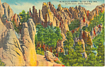 Needles Highway Custer State Park  SD  Postcard p17894