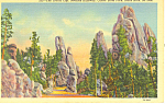 Needles Highway Custer State Park  SD  Postcard p17895