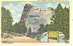 Click here to enlarge image and see more about item p17896: Mt Rushmore Memorial , SD  Postcard 1947