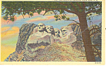 Click here to enlarge image and see more about item p17898: Mt Rushmore Memorial , SD  Postcard 1952