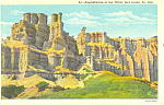 Amphitheatre Badlands  SD  Postcard p17902
