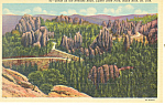 Needles Highway Custer State Park  SD  Postcard p17911