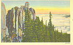 Click here to enlarge image and see more about item p17914: Harney Peak Black Hills  SD  Postcard p17914