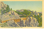 Curve Needles Highway Custer State Park  SD  Postcard p17919