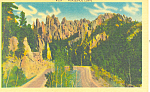 Horseshoe Curve, Black Hills , SD  Postcard