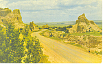 Cedar Pass Badlands National Monument  SD  Postcard p17927