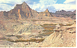 Badlands National Monument SD Postcard 1968
