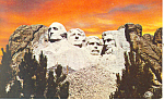 Click here to enlarge image and see more about item p17938: Mt Rushmore National Memorial SD Postcard p17938