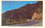 Newfound Gap Highway Smoky Mountains National Park TN Postcard p17940