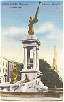 Click here to enlarge image and see more about item p1794: Baltimore MD Francis Scott Key Monument Postcard p1794