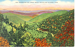 Newfound Gap Smoky Mountains National Park TN Postcard p17973