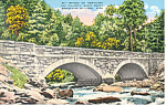 Bridge  on Newfound Gap Highway,TN Postcard