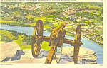 Confederate Cannon Lookout Mountain TN Postcard p17976