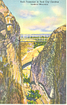 Rock Formation Lookout Mountain TN Postcard p17987