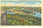 Moccasin Bend from Lookout Mountain,TN Postcard 1942
