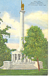 NY Peace Monument Lookout Mountain,TN Postcard