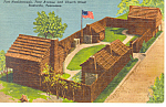 Fort Nashborough Nashville TN Postcard p18006 1961
