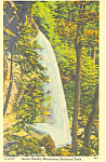 Click here to enlarge image and see more about item p18013: Rainbow Falls on Mt LaConte  TN Postcard p18013