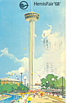 Click here to enlarge image and see more about item p18036: Hemisfair 68, San Antonio TX  Postcard 1968