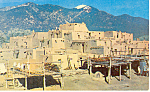 Click here to enlarge image and see more about item p18047: Pueblo De Taos, NM Postcard