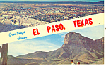 Greetings From El Paso TX Postcard p18048