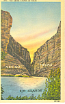 The Grand Canyon of Texas Postcard 1944