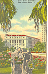 Post Office San Antonio  TX Postcard p18097