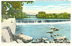 Leon River, Temple, TX Postcard 1945