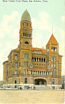 Court House, San Antonio TX Postcard 1911