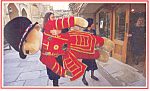 Click here to enlarge image and see more about item p18132: Stuffed Bear Dressed as Beefeater Postcard