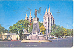 Pioneer Monument,Salt Lake City, UT Postcard 1957