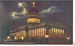 State Capitol at Night Utah Postcard p18144