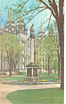 Seagull Monument Salt Lake City UT Postcard 1960