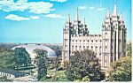 Temple Square Salt Lake City UT Postcard p18159 1969