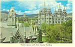 State Capitol and Temple Square UT Postcard p18163