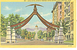 Eagle Gate Salt Lake City UT Postcard 1945
