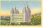 Mormon Temple Salt Lake City UT Postcard p18175