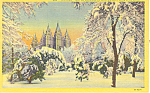 Mormon Temple Winter Salt Lake City UT Postcard p18180