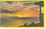 Click here to enlarge image and see more about item p18186: Sunset Over Great Salt Lake UT Postcard p18186