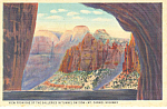 View in Zion National Park UT Postcard