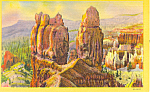 Click here to enlarge image and see more about item p18208: The Sentinels,Bryce Canyon National Park UT Postcard