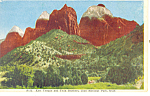 East Temple Zion National Park UT Postcard p18227