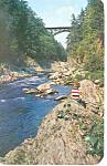 Quechee Gorge, VT Postcard 1955
