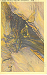 Smugglers Cave Green Mts, VT Postcard 1944