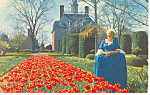 Governor s Palace Garden Willamsburg VA Postcard p18263
