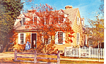 Brush-Everard House Williamsburg VA Postcard
