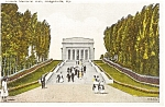 Click here to enlarge image and see more about item p1833: Hodgenville KY Lincoln Memorial Postcard