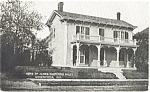 Click here to enlarge image and see more about item p1840: Greenfield IN James Whitcomb Riley House Postcard p1840